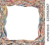 crossing wavy stripes... | Shutterstock .eps vector #1234062067