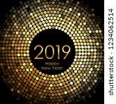vector   happy new year 2019  ... | Shutterstock .eps vector #1234062514
