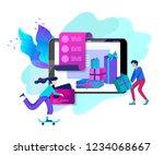 landing page template of online ... | Shutterstock .eps vector #1234068667