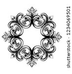 baroque vector vintage ornament.... | Shutterstock .eps vector #1234069501