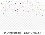 colorful confetti star on... | Shutterstock .eps vector #1234070164