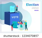 voting and election concept.... | Shutterstock .eps vector #1234070857