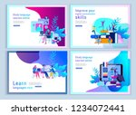 set of landing page templates... | Shutterstock .eps vector #1234072441