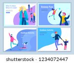 set of landing page templates.... | Shutterstock .eps vector #1234072447