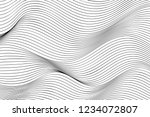 wave lines pattern abstract... | Shutterstock .eps vector #1234072807