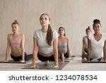 five beautiful young women... | Shutterstock . vector #1234078534