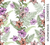 seamless pattern of hand drawn... | Shutterstock .eps vector #1234085551