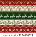 ugly sweater merry christmas... | Shutterstock .eps vector #1234088824