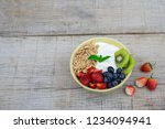bowl of homemade granola with... | Shutterstock . vector #1234094941