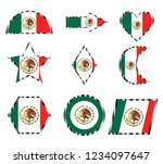 set of various icons of the... | Shutterstock .eps vector #1234097647