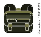 school bag isolated vector  ... | Shutterstock .eps vector #1234115671