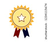 vector achievement medal badge... | Shutterstock .eps vector #1234115674