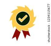 vector achievement medal badge... | Shutterstock .eps vector #1234115677