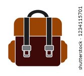 school bag isolated vector  ... | Shutterstock .eps vector #1234115701