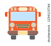 vector school bus isolated icon ... | Shutterstock .eps vector #1234115764