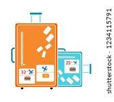 vector travel tourist bag... | Shutterstock .eps vector #1234115791