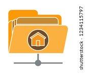 vector computer data storage... | Shutterstock .eps vector #1234115797