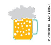 beer mug isolated vector  ... | Shutterstock .eps vector #1234115824