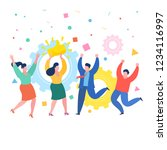 concept of likes and positive...   Shutterstock .eps vector #1234116997