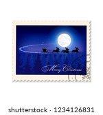 postage stamp christmas...   Shutterstock .eps vector #1234126831
