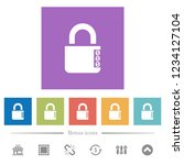 locked combination lock with...   Shutterstock .eps vector #1234127104