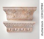 3d rendering beautiful marble... | Shutterstock . vector #1234129984