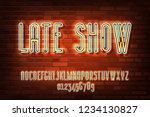 late show neon sign lamp font... | Shutterstock .eps vector #1234130827