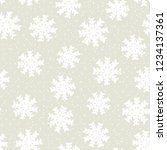 this is a winter seamless... | Shutterstock .eps vector #1234137361