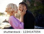 portrait of a couple in love...   Shutterstock . vector #1234147054