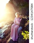 couple in love close up sitting ... | Shutterstock . vector #1234147084