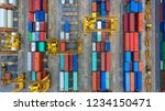 container ship in export and... | Shutterstock . vector #1234150471