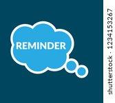 reminder sign label. reminder ... | Shutterstock .eps vector #1234153267