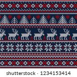 ugly sweater merry christmas... | Shutterstock .eps vector #1234153414