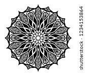 mandala for coloring book.round ... | Shutterstock .eps vector #1234153864