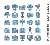 camera and video camera icons ... | Shutterstock .eps vector #1234163371