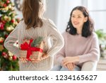 merry christmas and happy... | Shutterstock . vector #1234165627