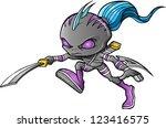 warrior ninja cyborg soldier... | Shutterstock .eps vector #123416575