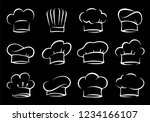 hand drawn set of chef and cook ... | Shutterstock .eps vector #1234166107