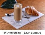 latte macchiato with coffee and ...   Shutterstock . vector #1234168801