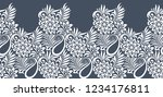 seamless paisley with flower... | Shutterstock .eps vector #1234176811