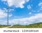 inoperable and damaged wind... | Shutterstock . vector #1234184164