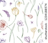 floral seamless pattern with... | Shutterstock .eps vector #1234188574