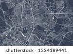 vector map of the city of... | Shutterstock .eps vector #1234189441