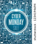 cyber monday sale design... | Shutterstock .eps vector #1234194694