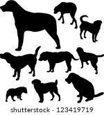 dogs   vector | Shutterstock .eps vector #123419719
