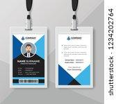 creative blue id card design... | Shutterstock .eps vector #1234202764