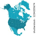map of north america | Shutterstock .eps vector #1234205674