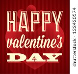 happy valentine's day card and...   Shutterstock .eps vector #123420574