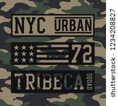 military nyc urban typography ... | Shutterstock .eps vector #1234208827