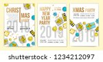 posters of happy new year 2019... | Shutterstock .eps vector #1234212097